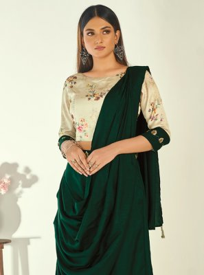 Black Embroidered Satin Designer Kurti