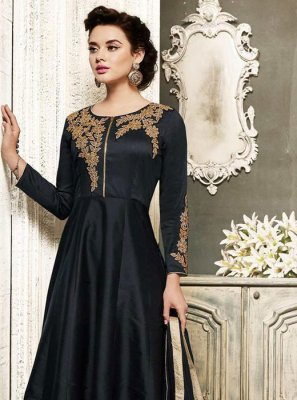 Black Embroidered Wedding Salwar Suit
