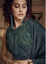 Black Fancy Fabric Reception Designer Lehenga Choli