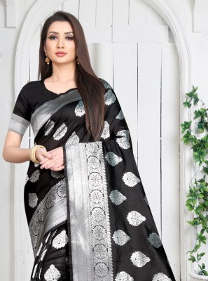 Black Festival Casual Saree