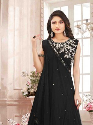 Black Georgette Designer Gown