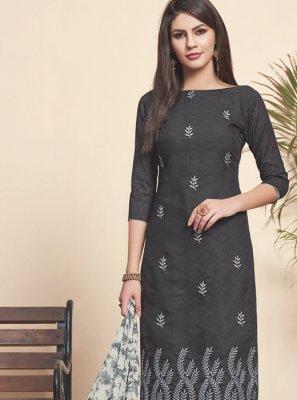 Black Jacquard Salwar Suit