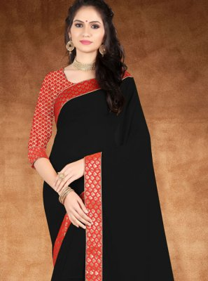 Black Lace Designer Saree