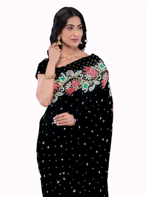 Black Mehndi Saree