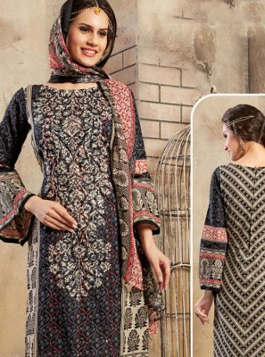 Black Mirror Cotton Trendy Churidar Salwar Suit