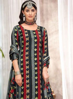 Black Party Designer Palazzo Salwar Suit