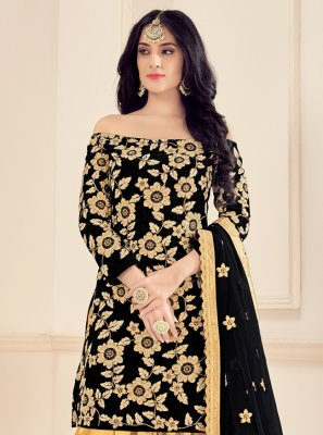 Black Party Designer Patiala Suit
