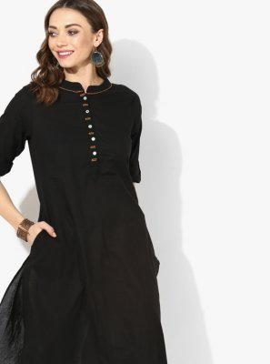 Black Party Party Wear Kurti