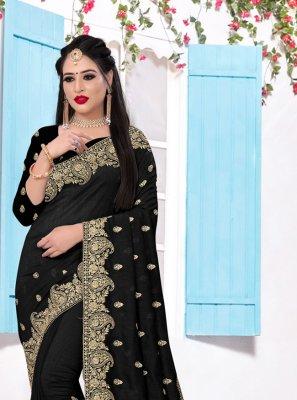 Black Party Silk Trendy Saree
