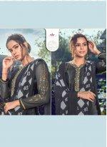 Black Printed Ceremonial Designer Salwar Kameez