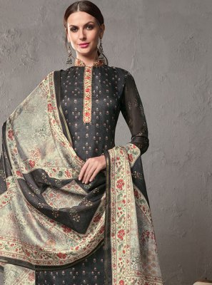 Black Printed Salwar Suit