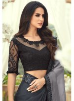 Black Pure Chiffon Saree