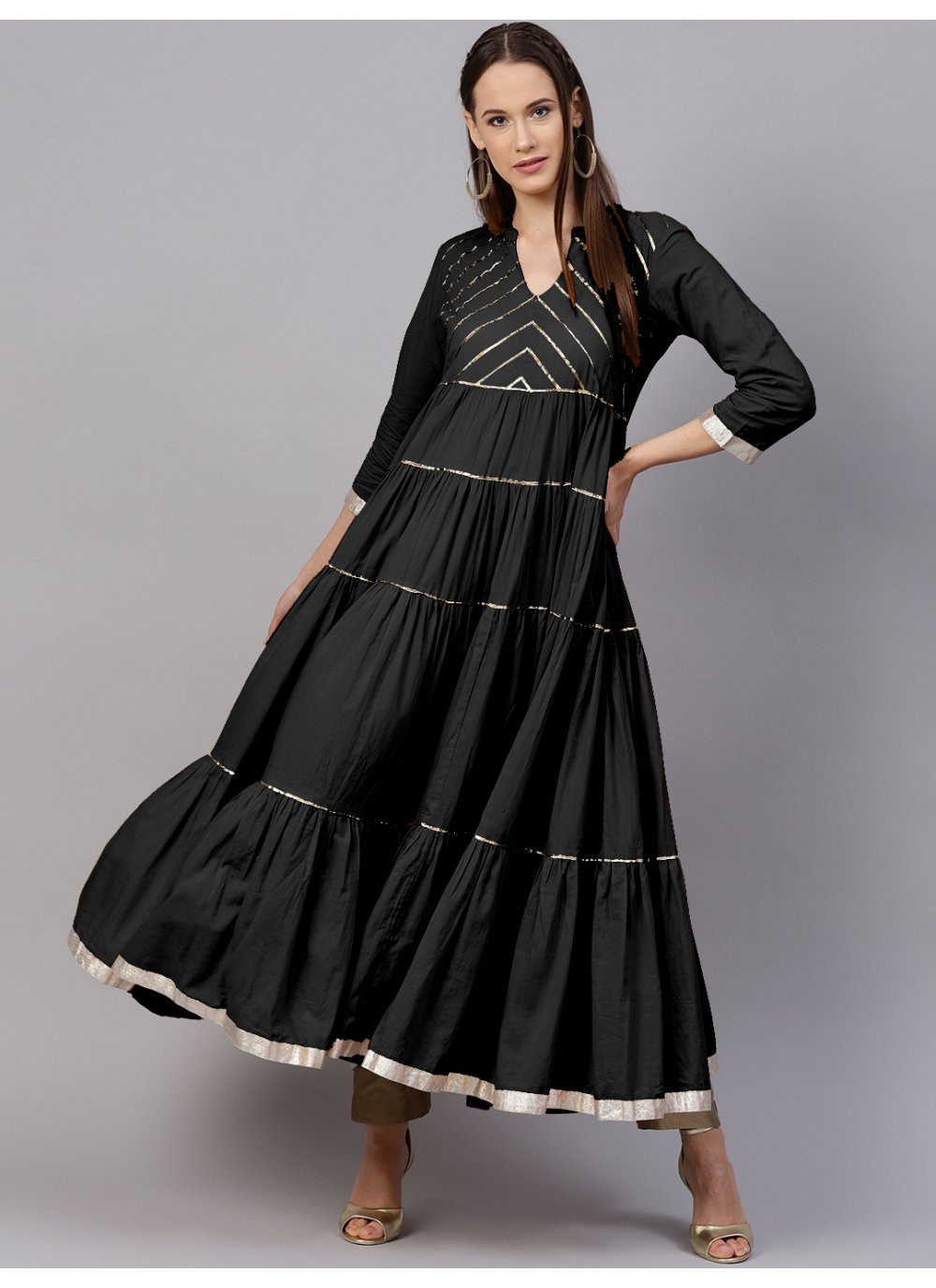 Black Rayon Party Salwar Kameez