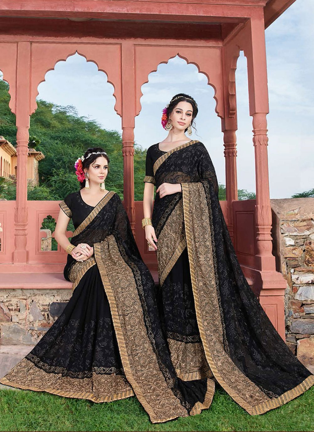 Black Reception Classic Designer Saree