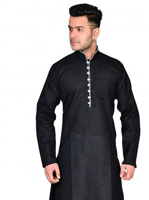 Black Reception Kurta Pyjama