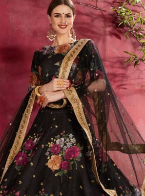 Black Reception Lehenga Choli