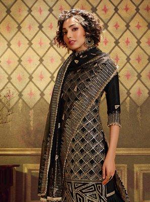 Black Sangeet Designer Palazzo Suit