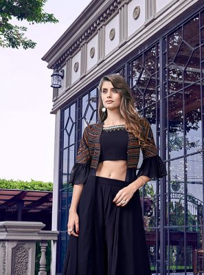Black Satin Salwar Suit