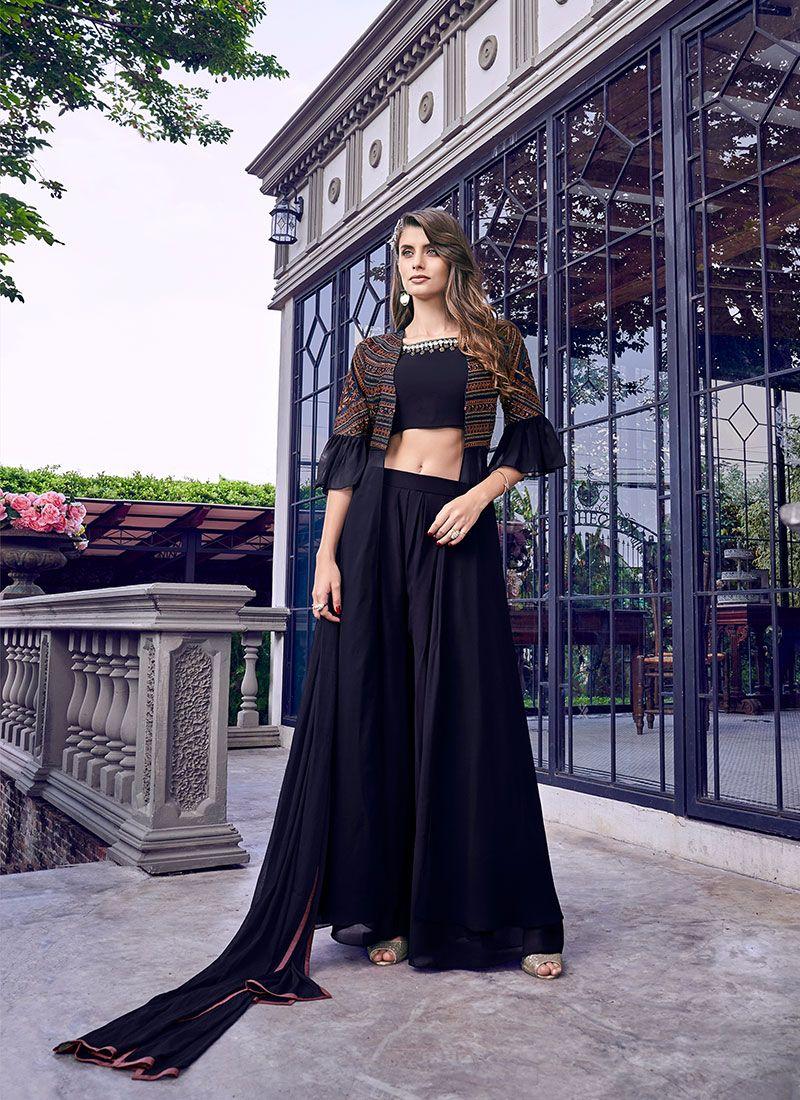 Black Satin Salwar Suit
