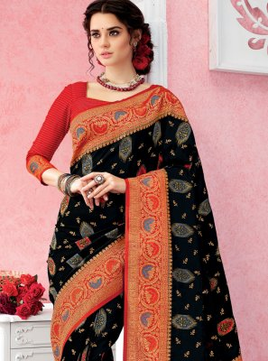 Black Silk Classic Saree