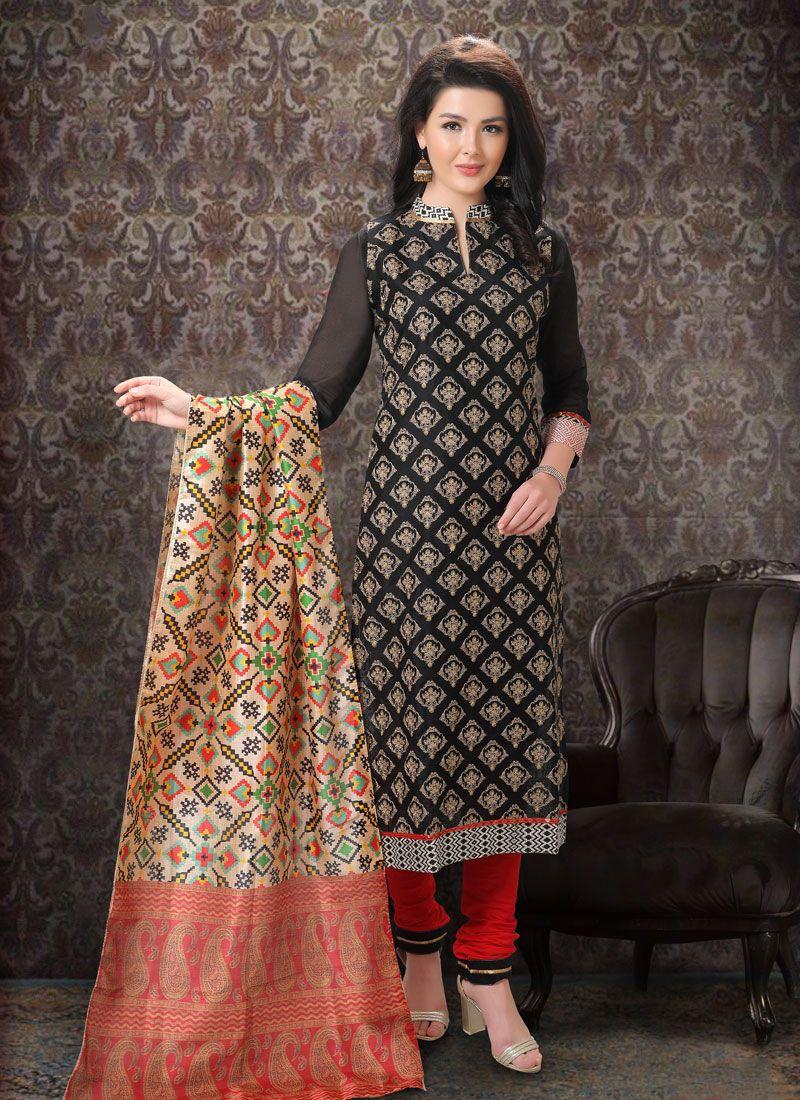 Black Silk Designer Suit
