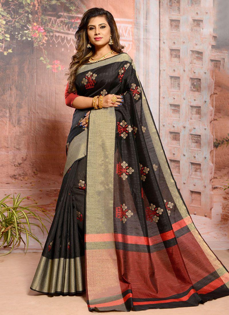 Black Thread Casual Classic Saree