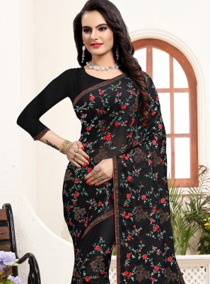 Black Trendy Saree