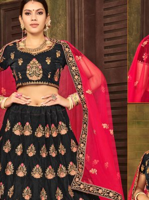 Black Velvet Trendy A Line Lehenga Choli