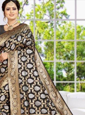 Black Weaving Classic Designer Saree