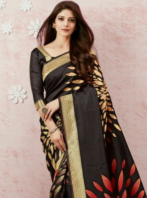 Black Weaving Classic Saree