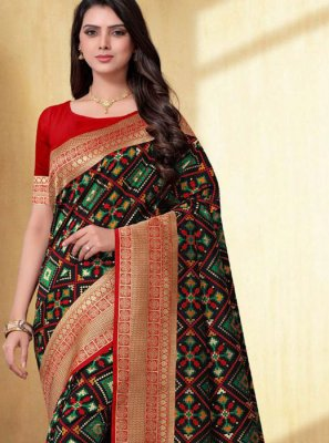 Black Weaving Silk Designer Traditional Saree