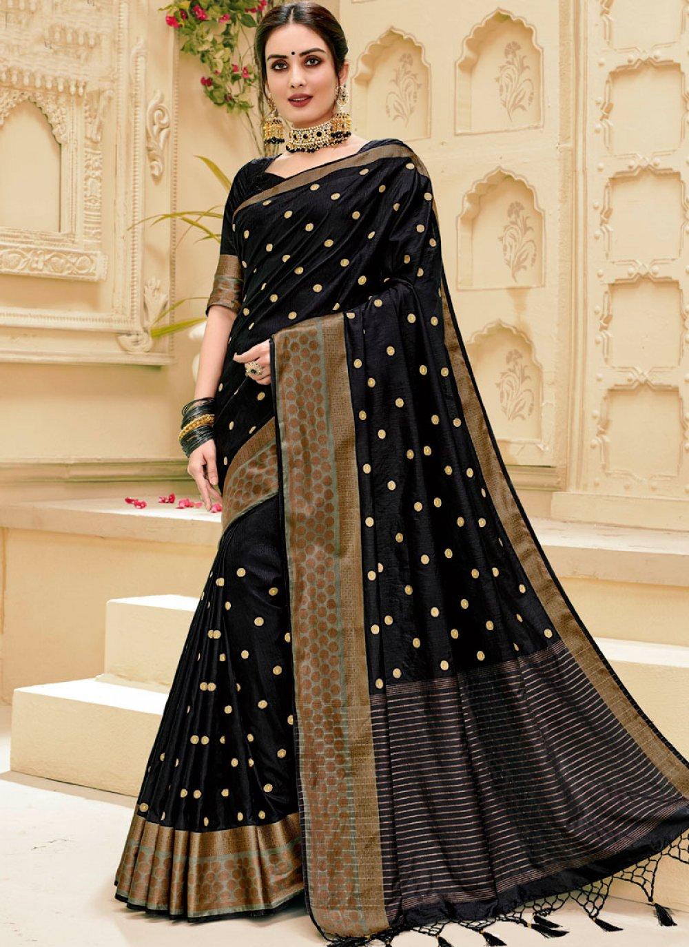 Black Weaving Silk Saree