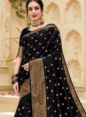Black Weaving Silk Saree