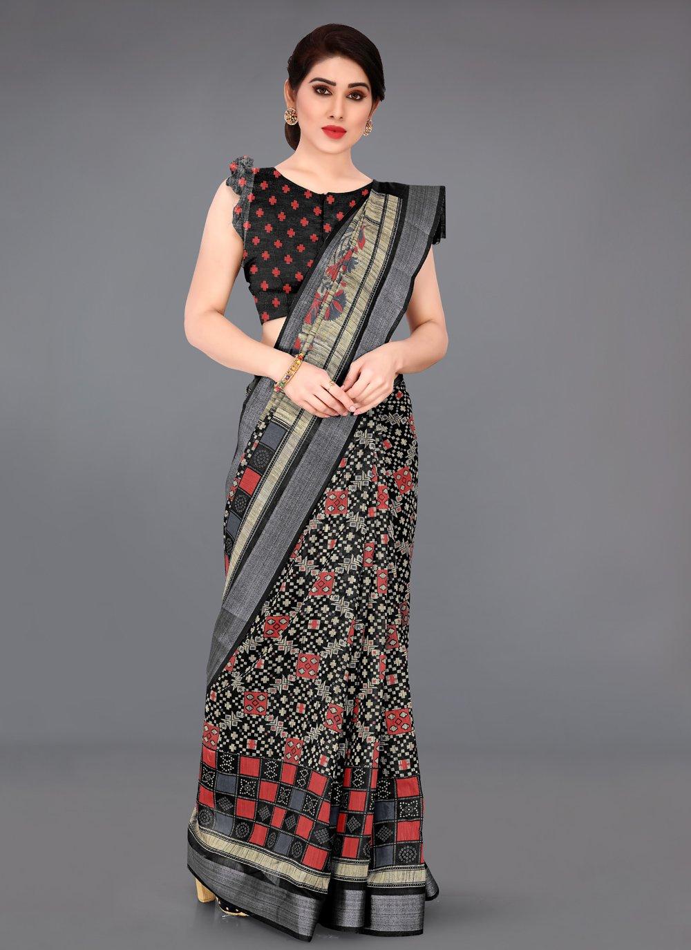 Black Zari Classic Saree