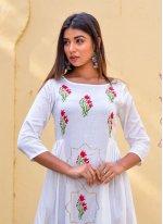 Block Print Jamawar Silk Designer Gown
