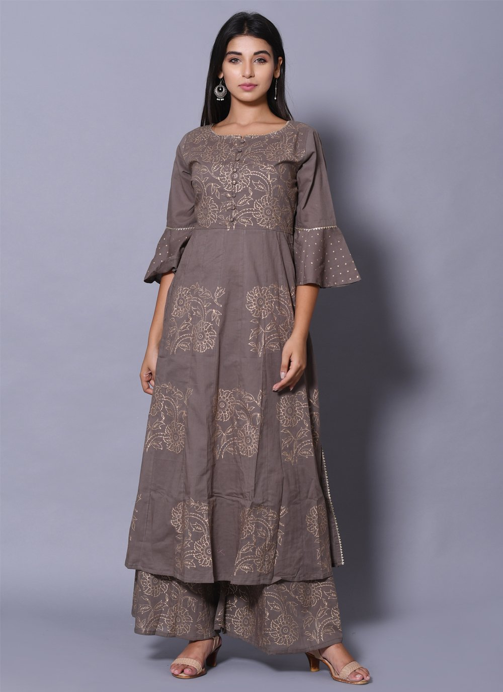 Block Print Party Wear Kurti