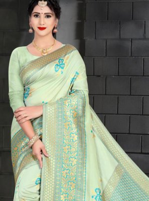Blue Art Silk Designer Traditional Saree