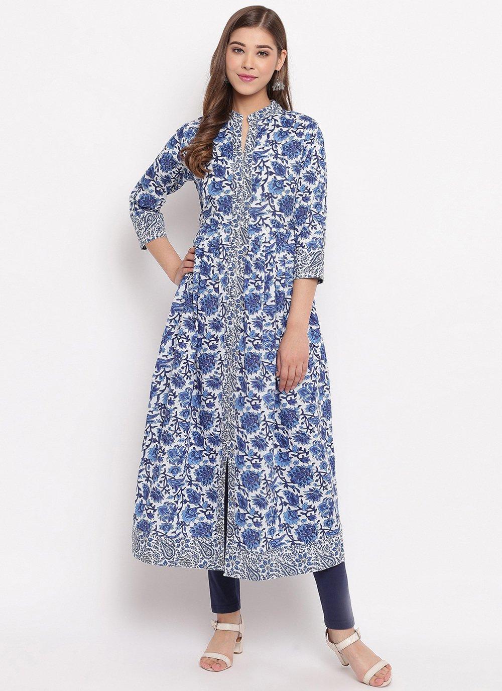 Blue Casual Designer Kurti