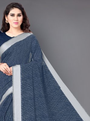 Blue Casual Designer Saree