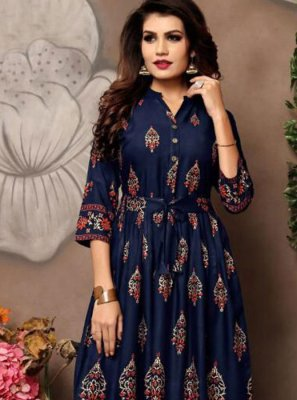 Blue Casual Party Wear Kurti