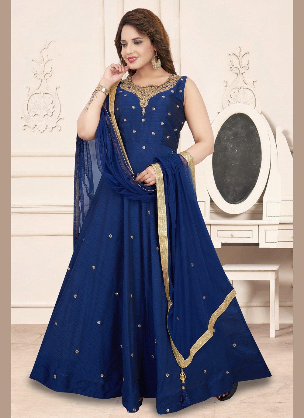 Blue Ceremonial Anarkali Suit