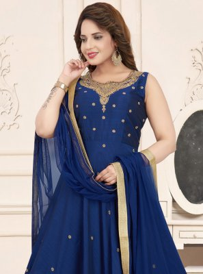 Blue Ceremonial Anarkali Suit