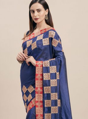 Blue Ceremonial Classic Saree