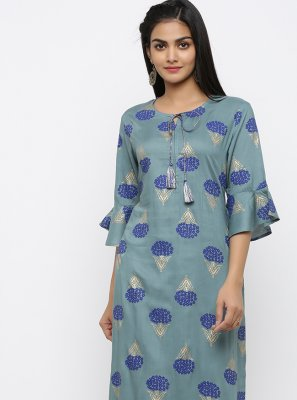 Blue Ceremonial Cotton Salwar Kameez