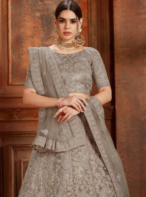 Grey Ceremonial Designer Lehenga Choli