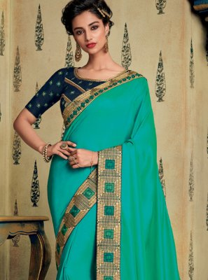 Blue Ceremonial Designer Saree