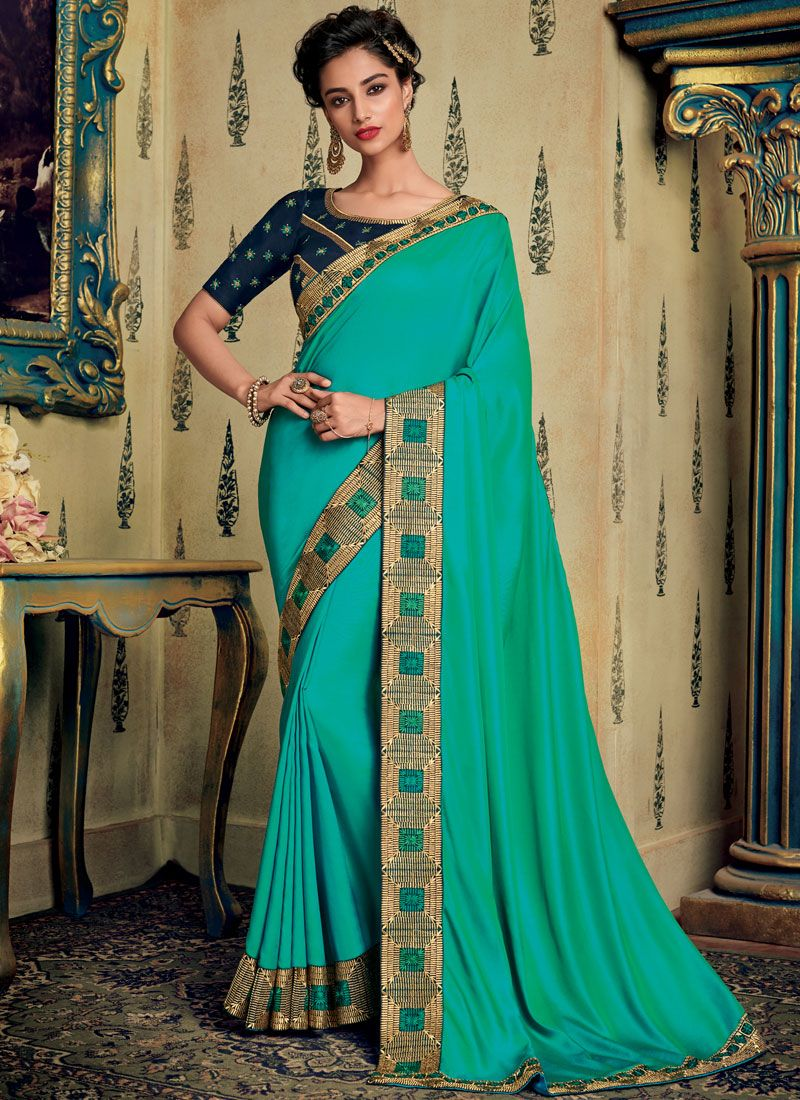 Blue Ceremonial Designer Saree