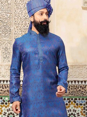 Blue Ceremonial Kurta Pyjama