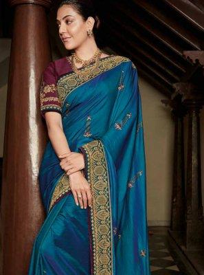 Blue Ceremonial Silk Classic Saree