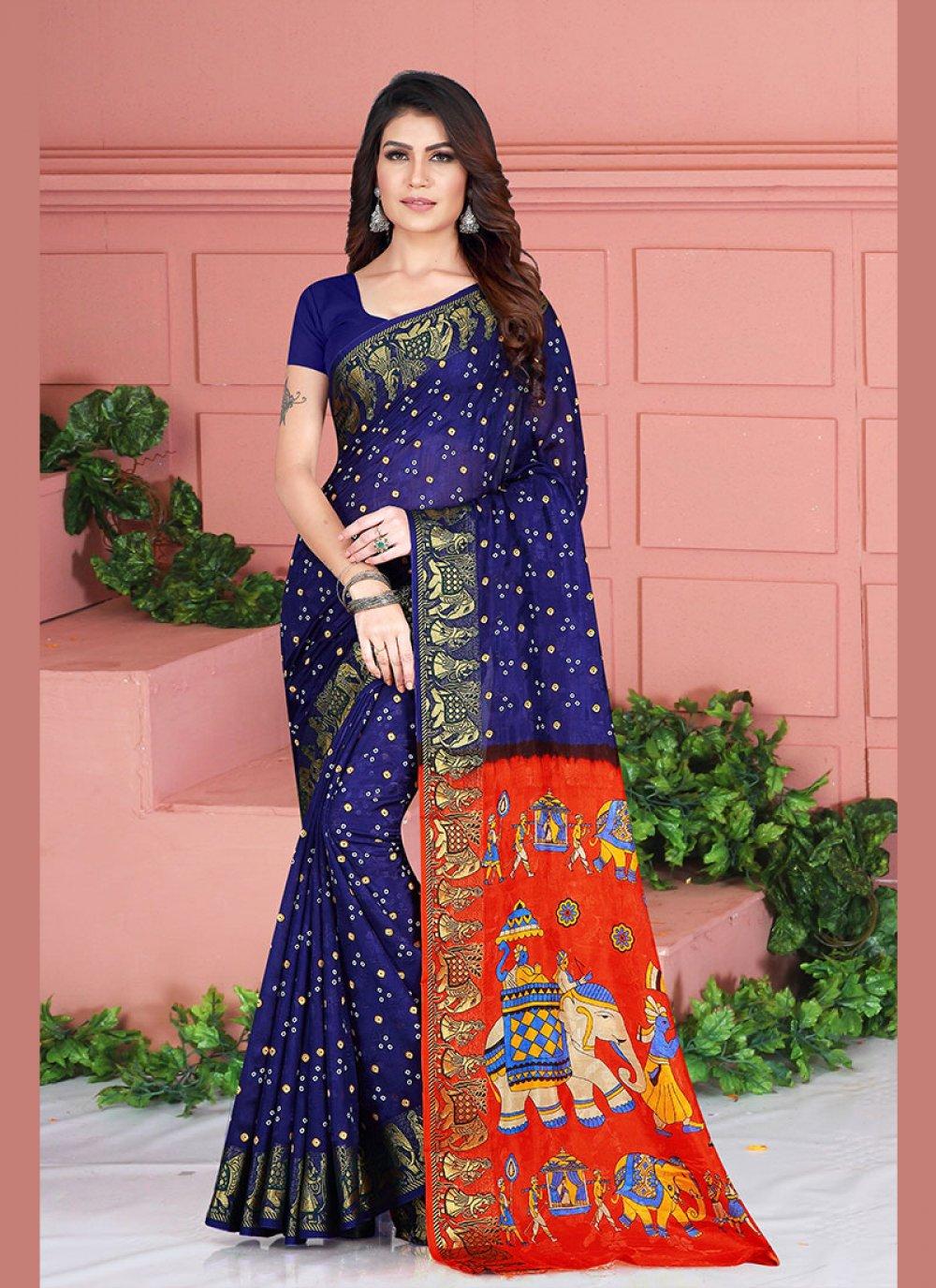 Blue Classic Saree